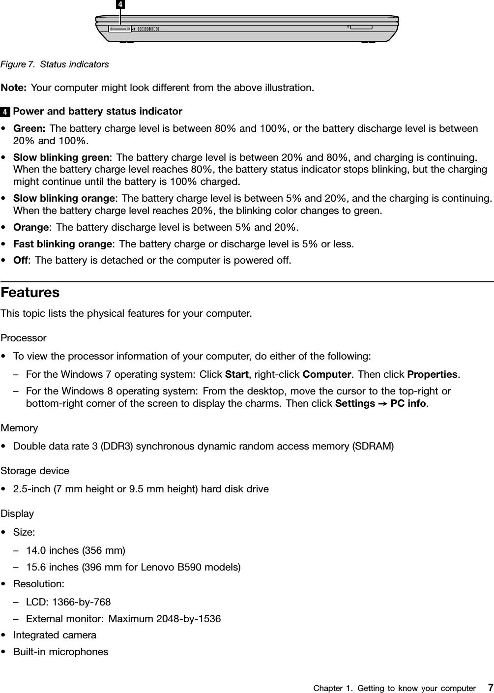 Lenovo B490 B43Xx B590 Ug En User Manual Guide B490, B590, Laptop