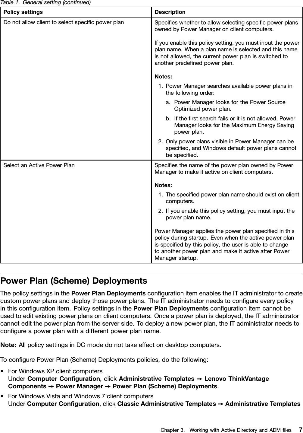 Lenovo Dpmmst En User Manual (English) Power Manager Deployment