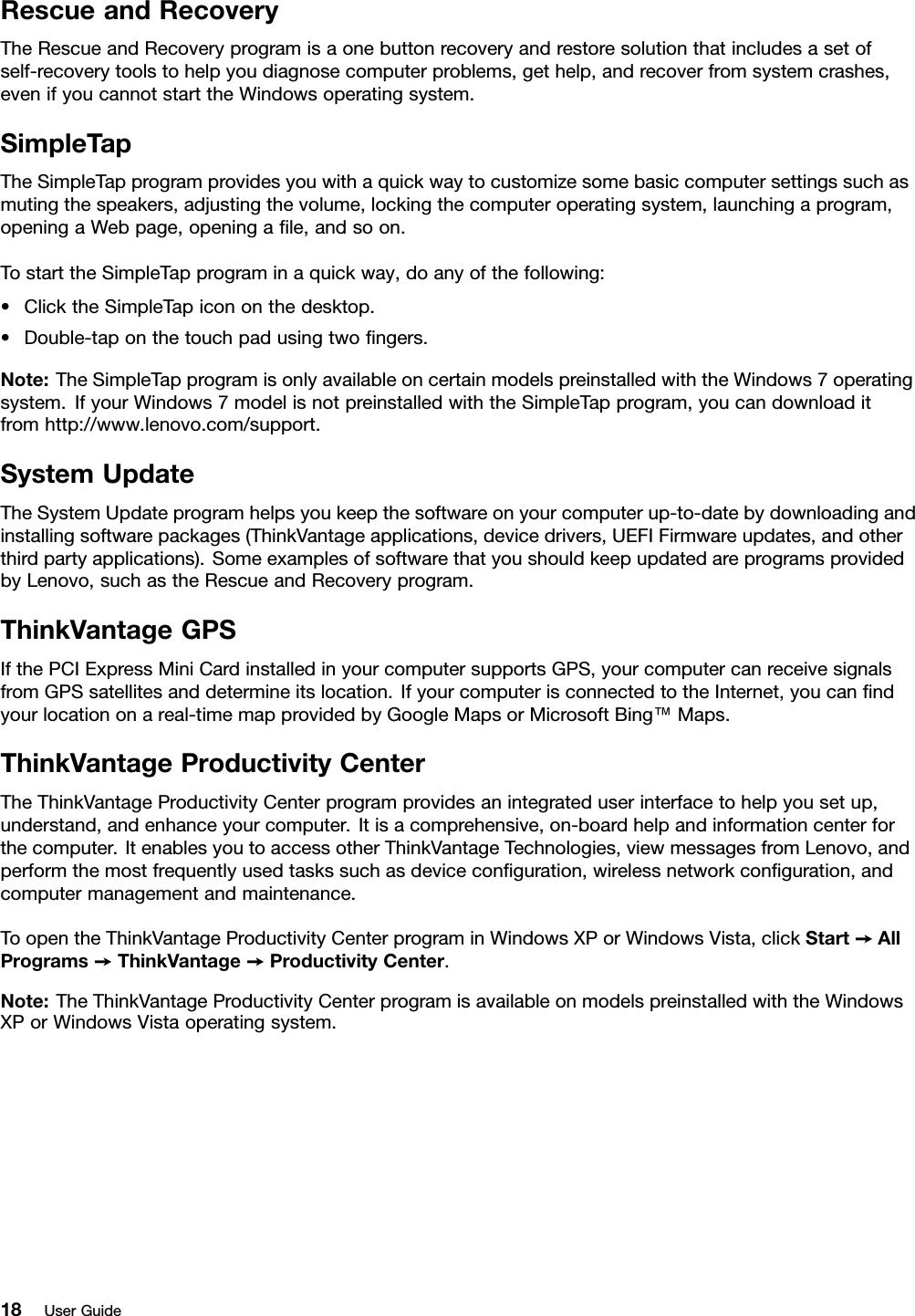 Lenovo E320 E325 Ug En User Manual (English) Guide Edge (Think Pad)
