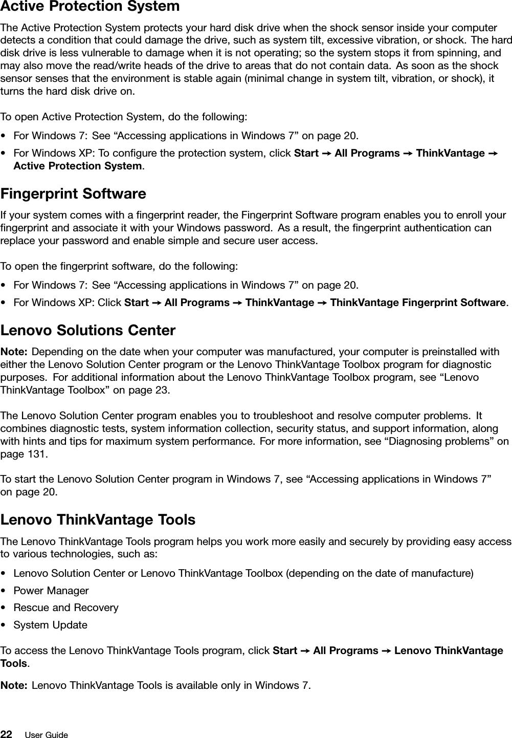 Lenovo E420 E520 Ug En User Manual (English) Guide Think Pad