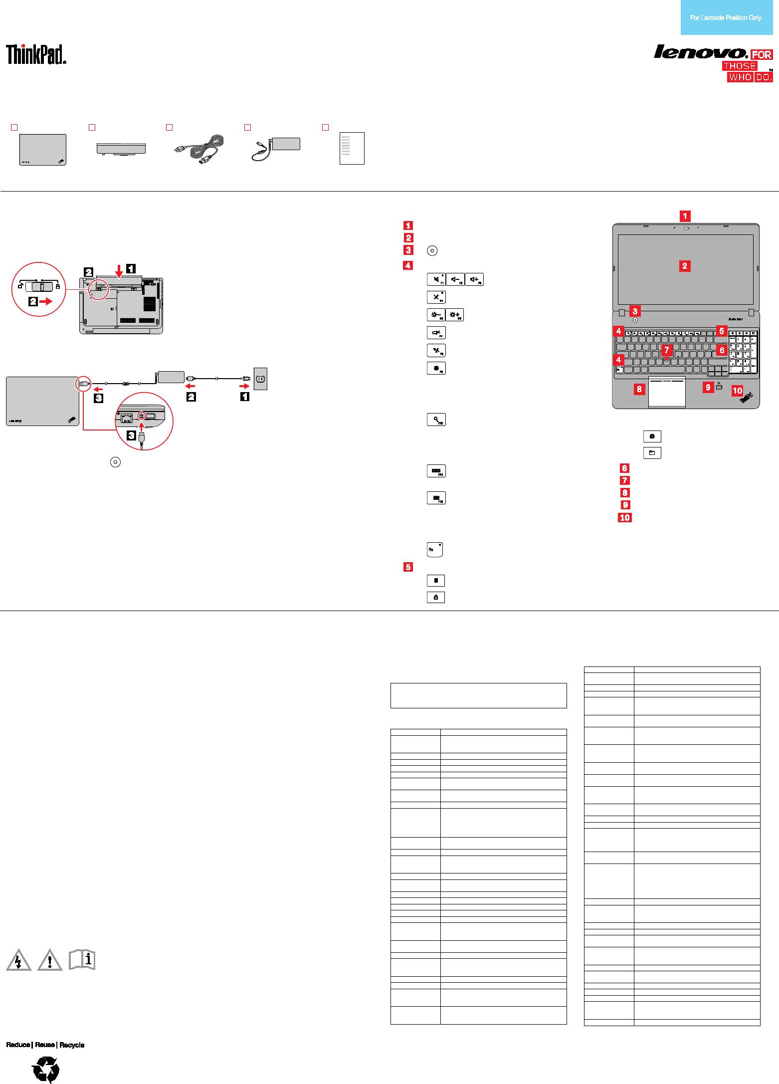 Lenovo E440 E540 Swsg En Sp40F28926 ThinkPad And User Manual