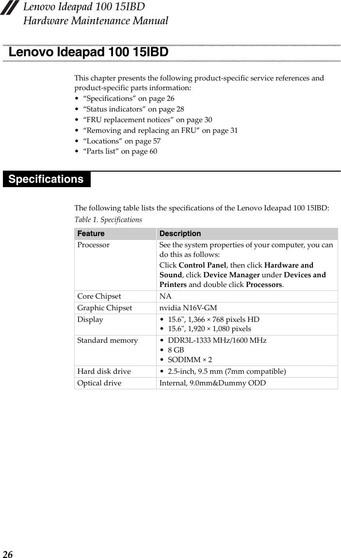 Bedienungsanleitung Lenovo Ideapad 100