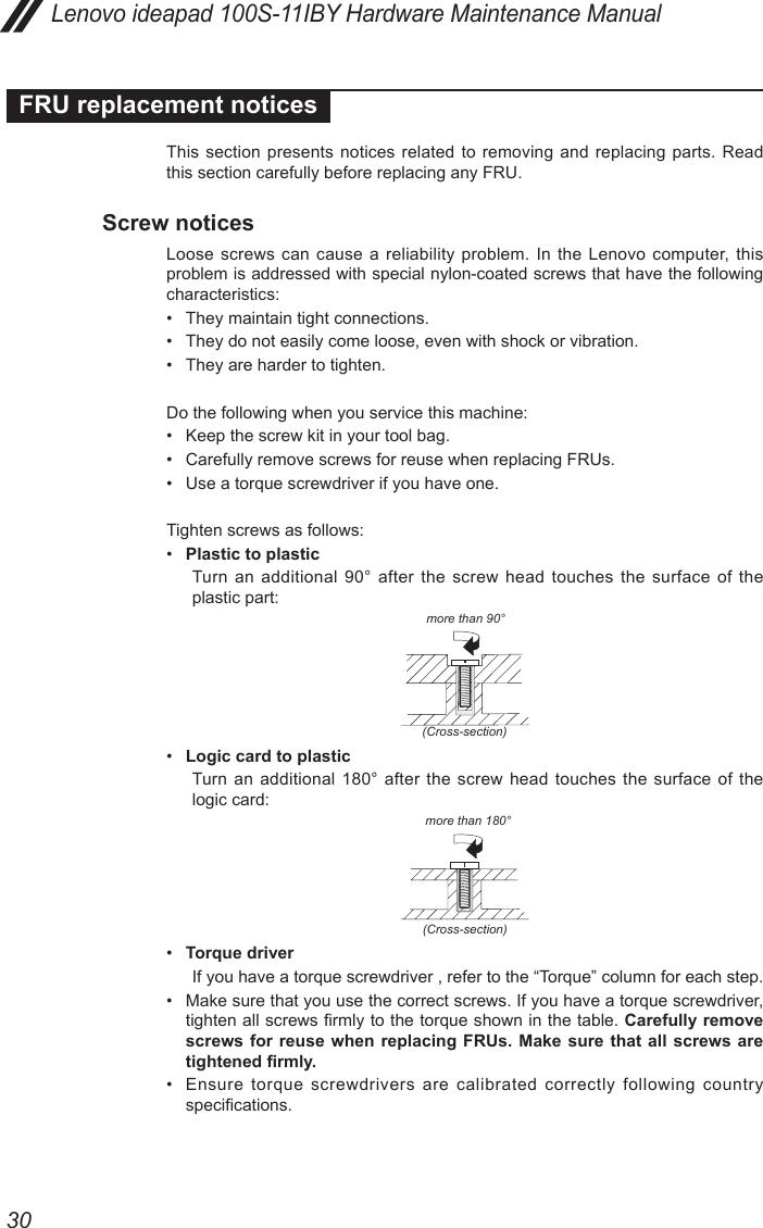 Lenovo Ideapad 100S 11 Iby Hmm 201509 11IBY User Manual