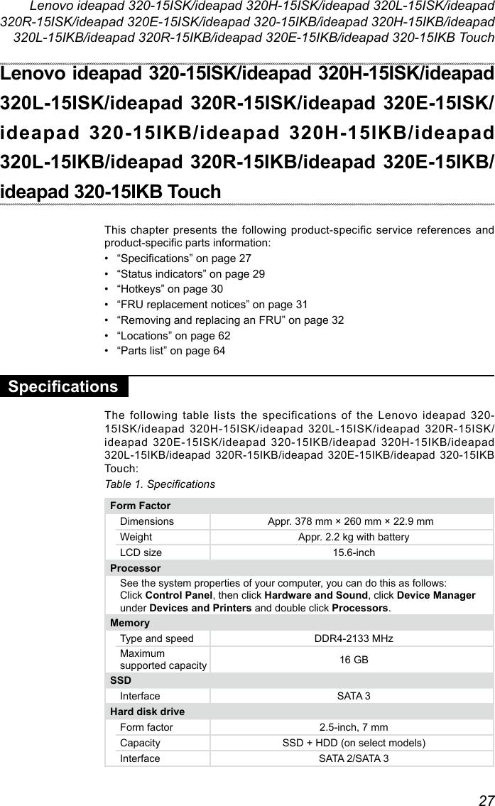 Lenovo Ideapad320 15Isk 320X 320 15Ikb 15Ikbtouch Hmm 201704