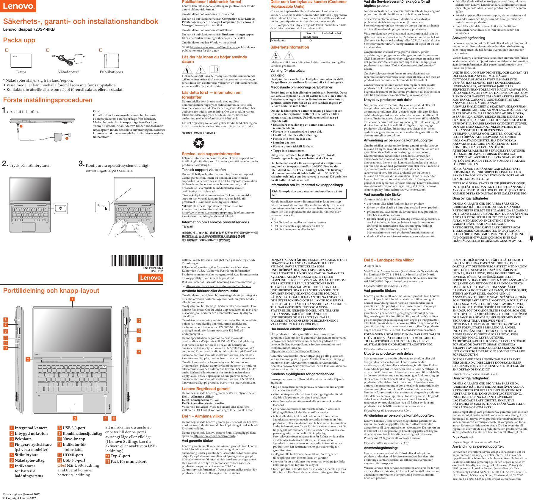Lenovo Ideapad720S 14Ikb Swsg Sv 201705 User Manual (Swedish