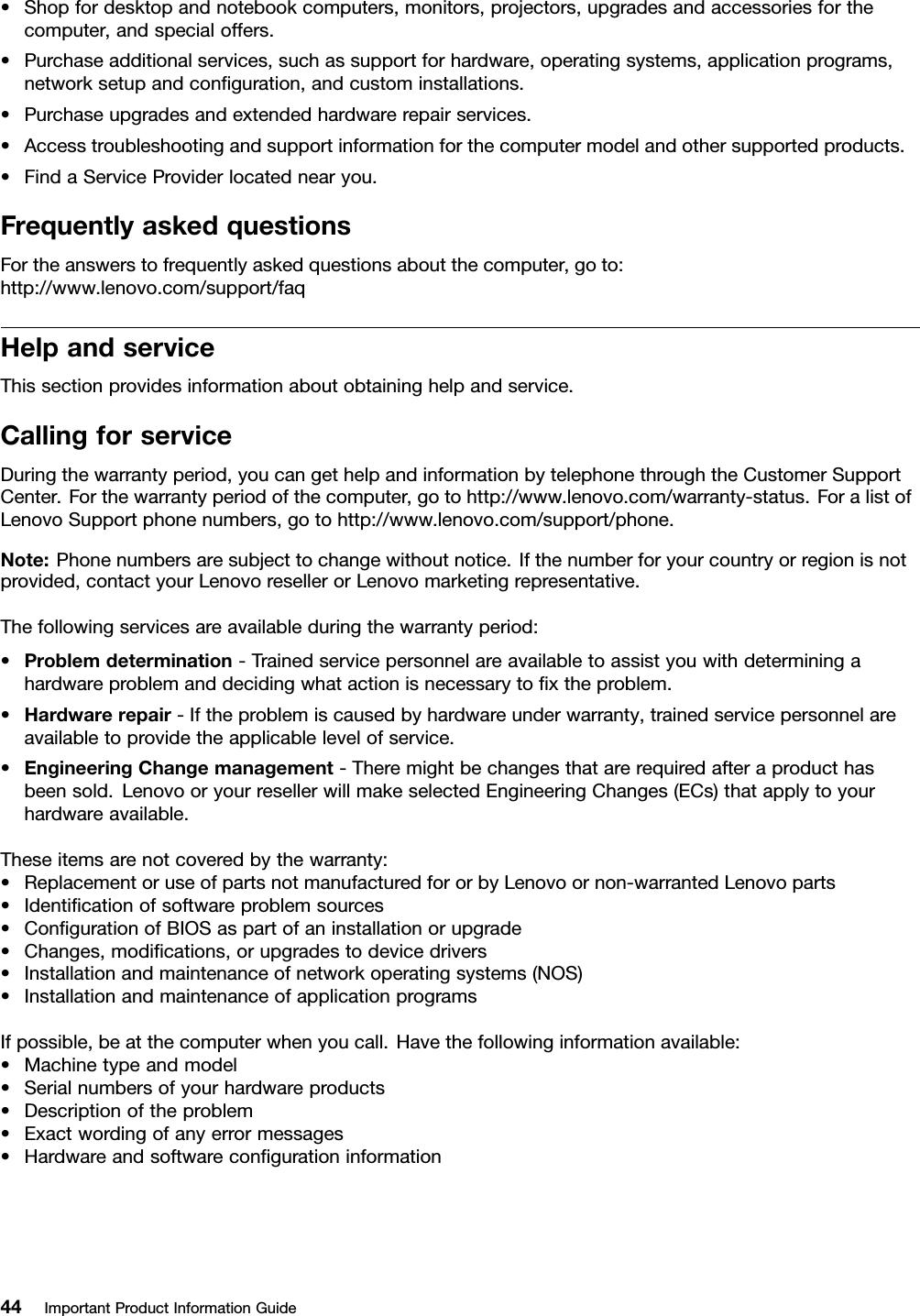 Lenovo Ipig V410Z En User Manual (English) Important Product