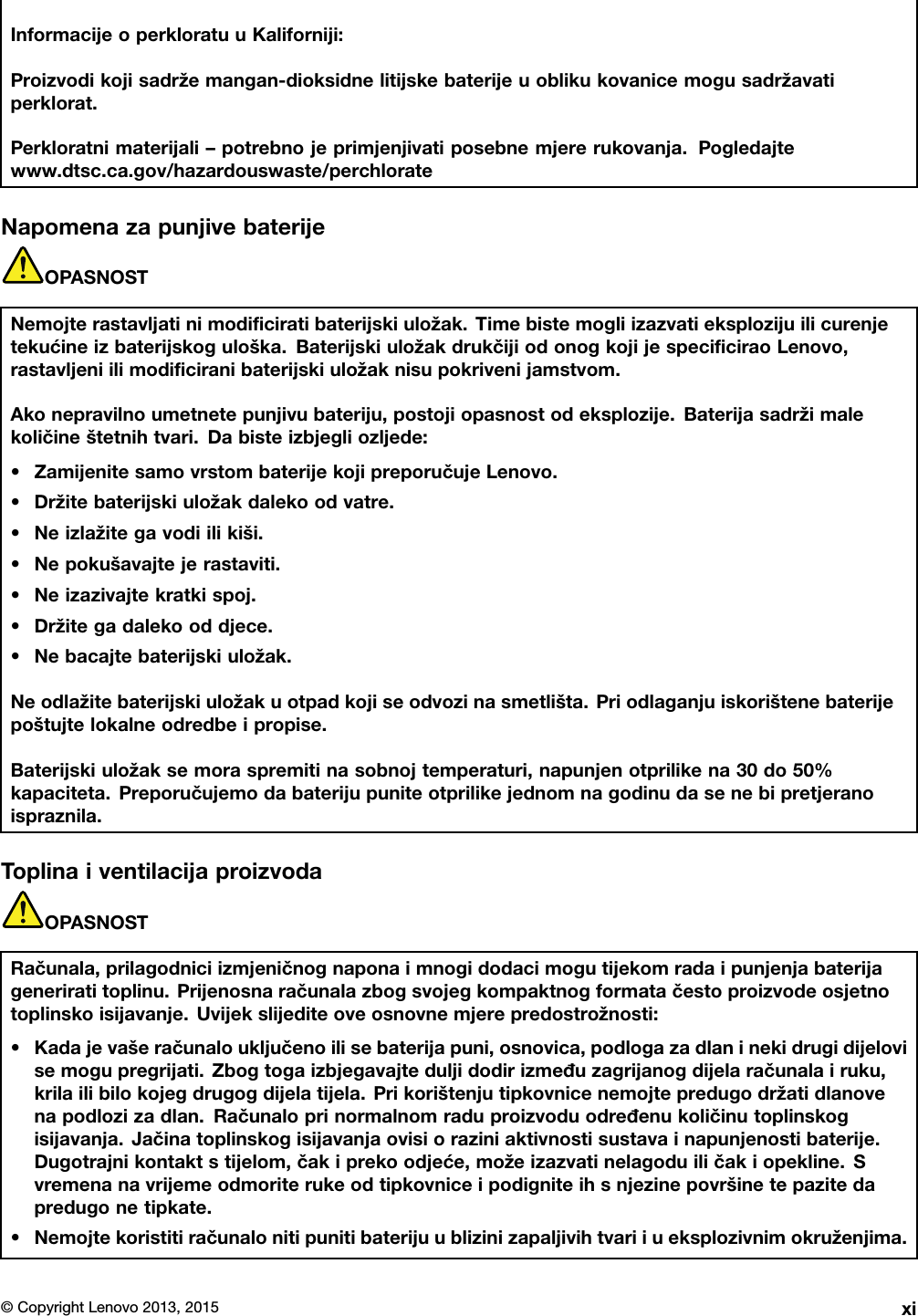 Lenovo L440 L540 Ug Hr User Manual (Croatian) Guide Think