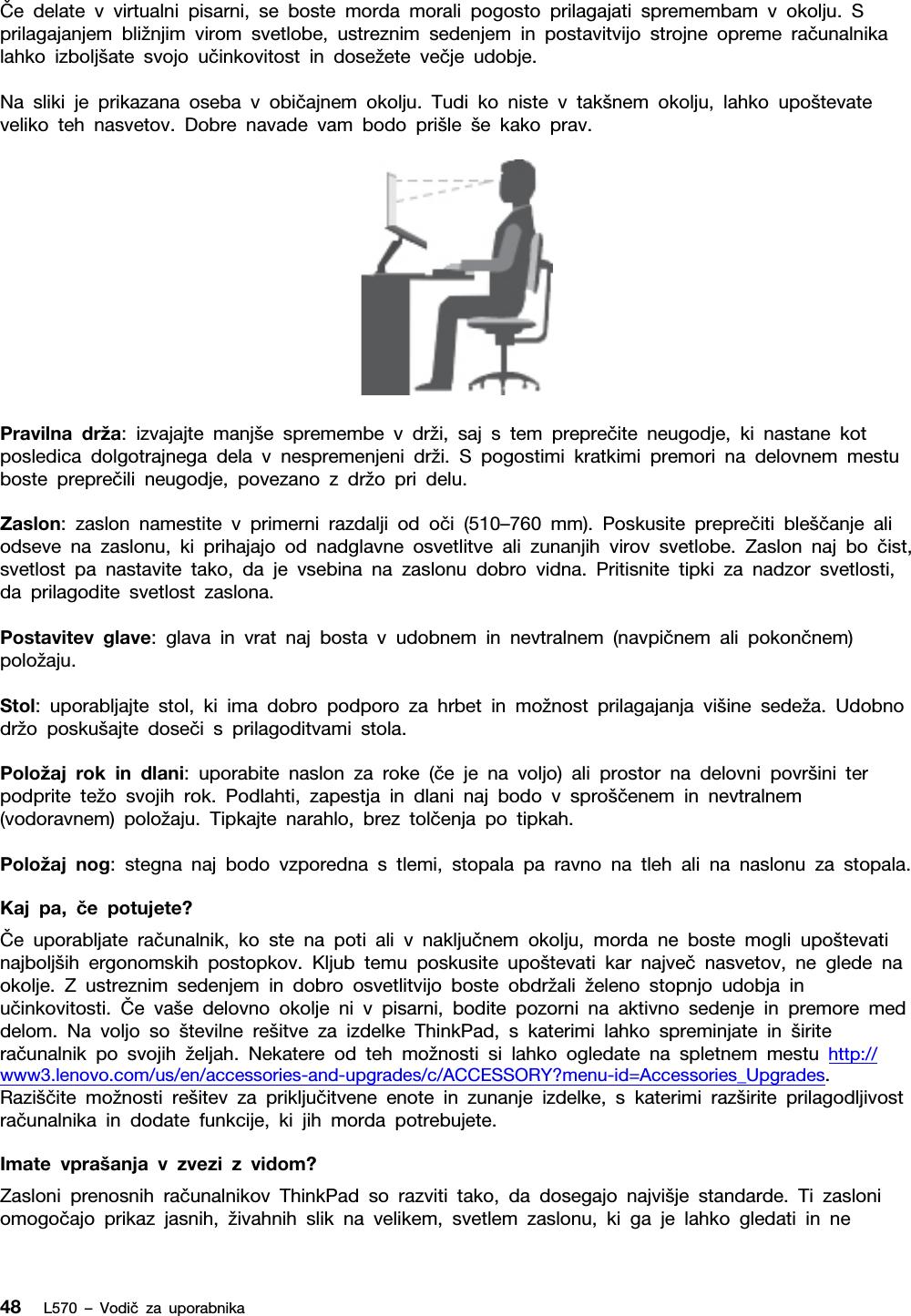 Lenovo L570 Ug Sl – Vodič Za Uporabnika User Manual