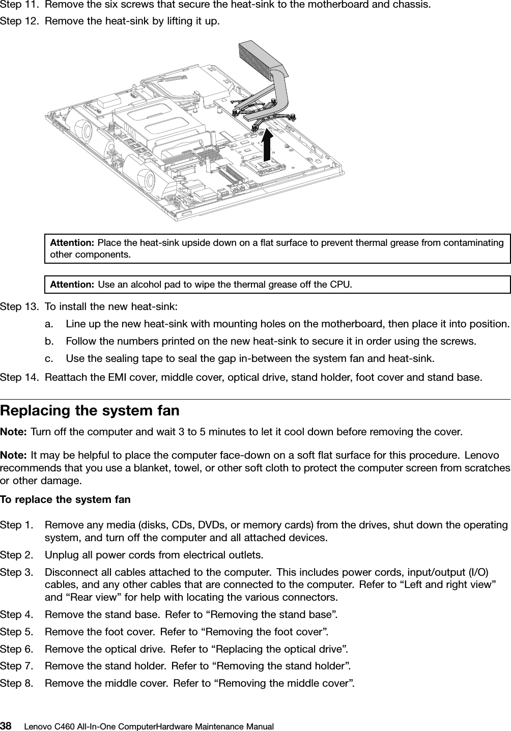 Lenovo C460 Hmm 20131107 User Manual All In One Computer