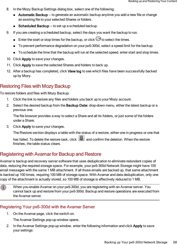 Lenovo Corp Nas App Px6 300D Diskless 70Bg9000Na Users Manual My