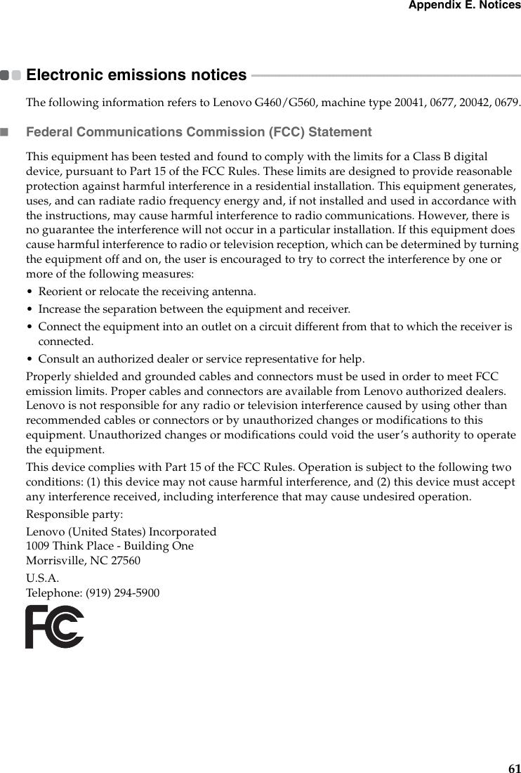 Lenovo G460 Users Manual