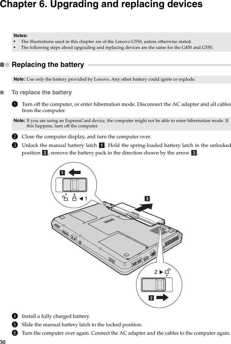 Lenovo Laptop G550 Users Manual G450 550_UG on