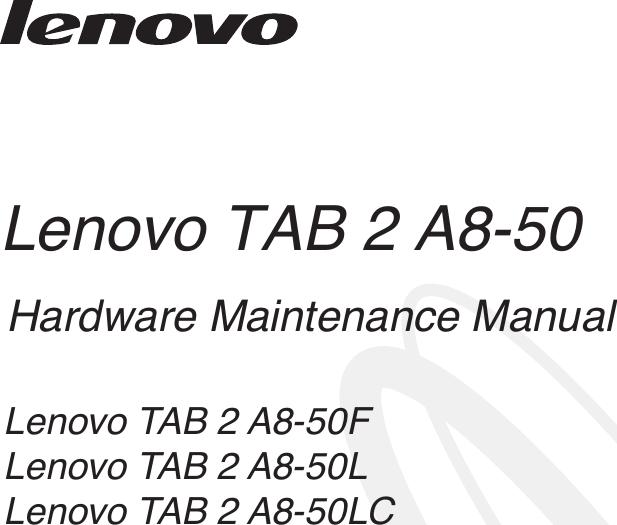 Lenovo Tab 2 A8 50 Hmm En 201505 HMM_EN User Manual (English