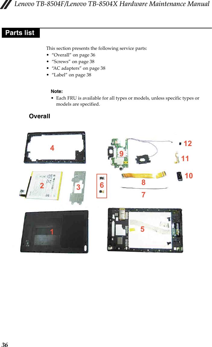 Lenovo Tab4 8 Hmm En V1 0 201706 User Manual Hardware