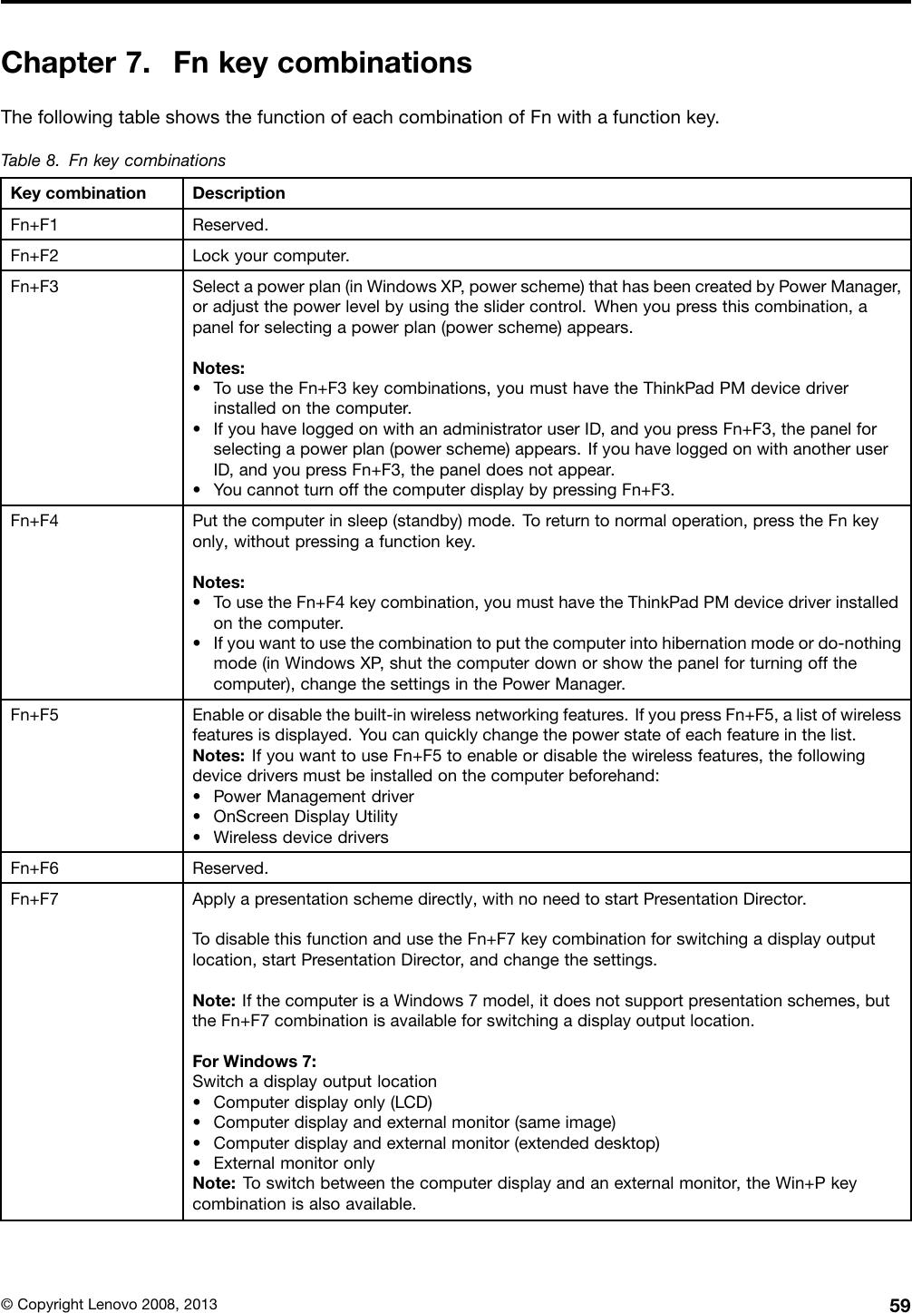 Lenovo Thinkpad 2758Mxu Users Manual