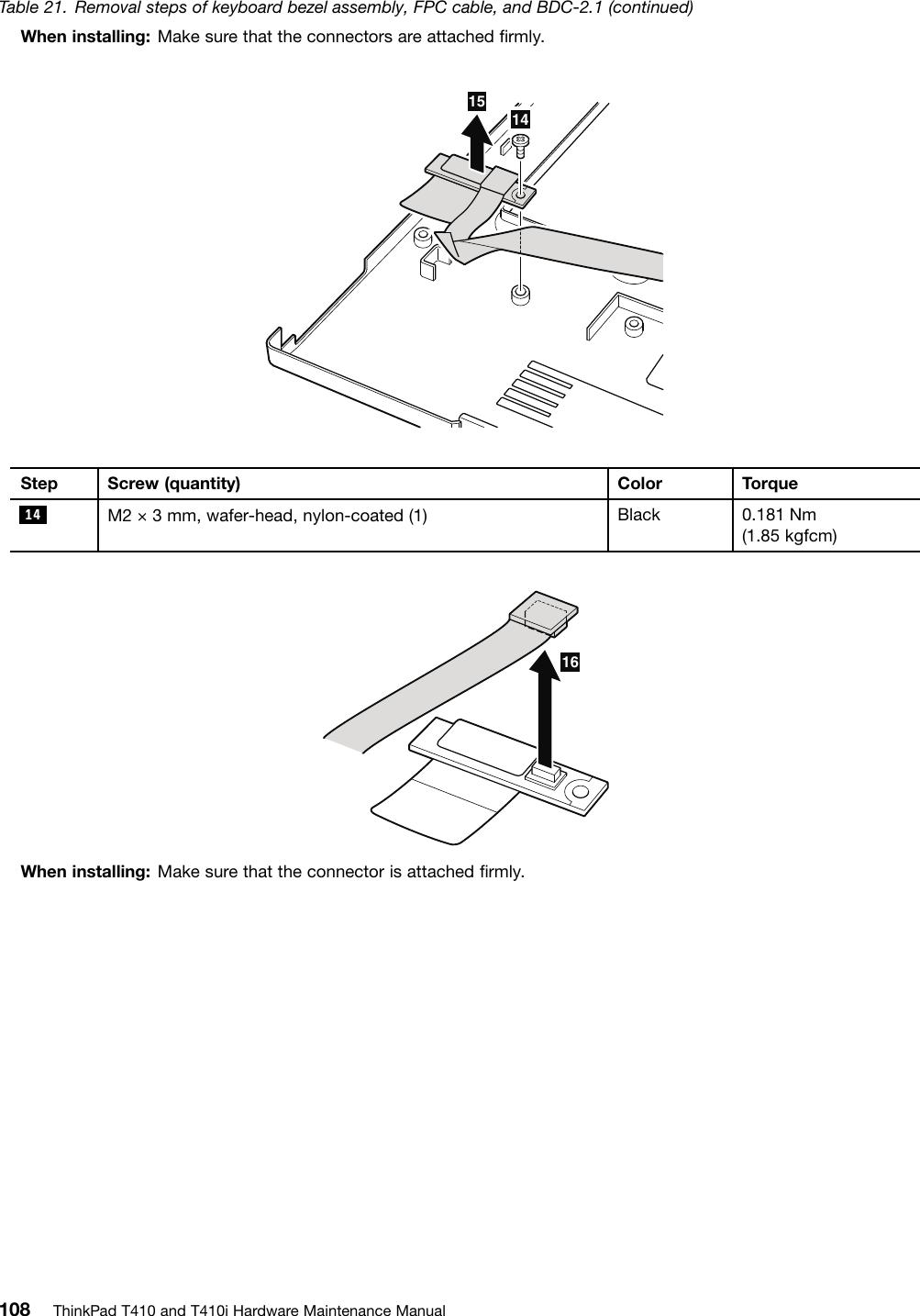 Lenovo Thinkpad T410 2518X01 Users Manual