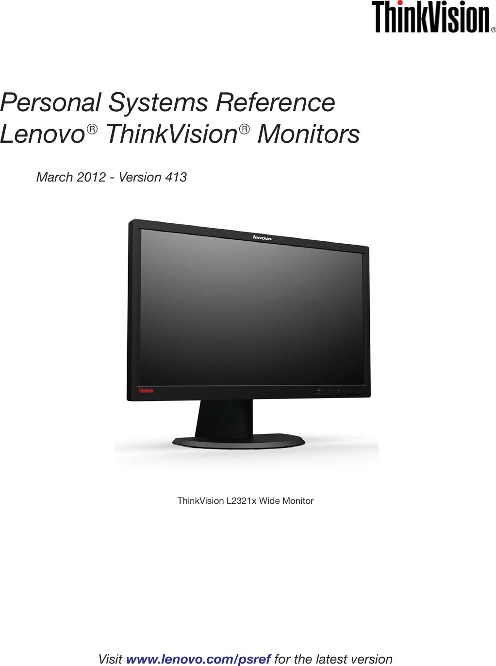 lenovo thinkvision l2321x users manual monitor rh usermanual wiki lenovo thinkvision l2250p wide manual ThinkVision Lenovo 4431-Hb2