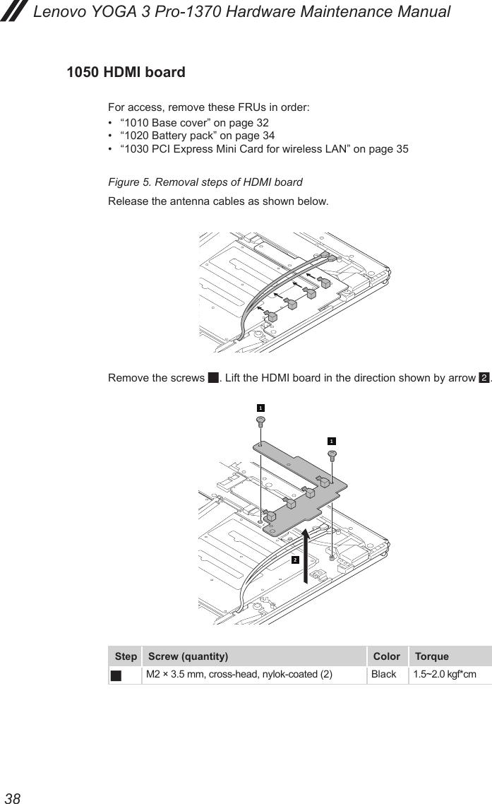 Lenovo Yoga 3 Pro 1370 Hardware Maintenance Manual