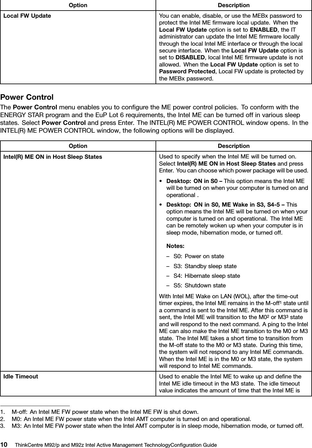 Lenovo M92P M92Z White Paper User Manual For Think Centre M92, M92p