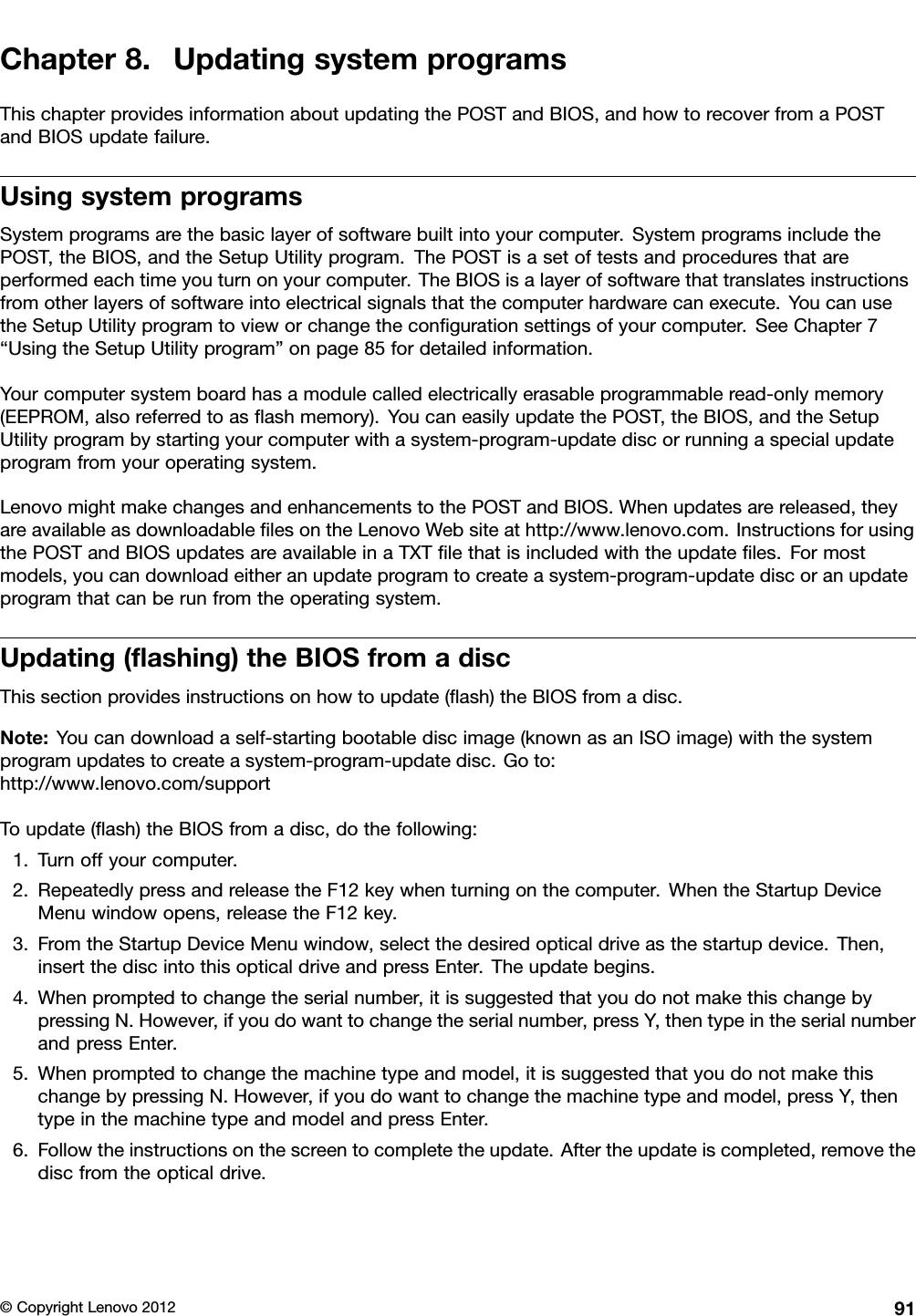 Bios Update Lenovo Thinkcentre M92p