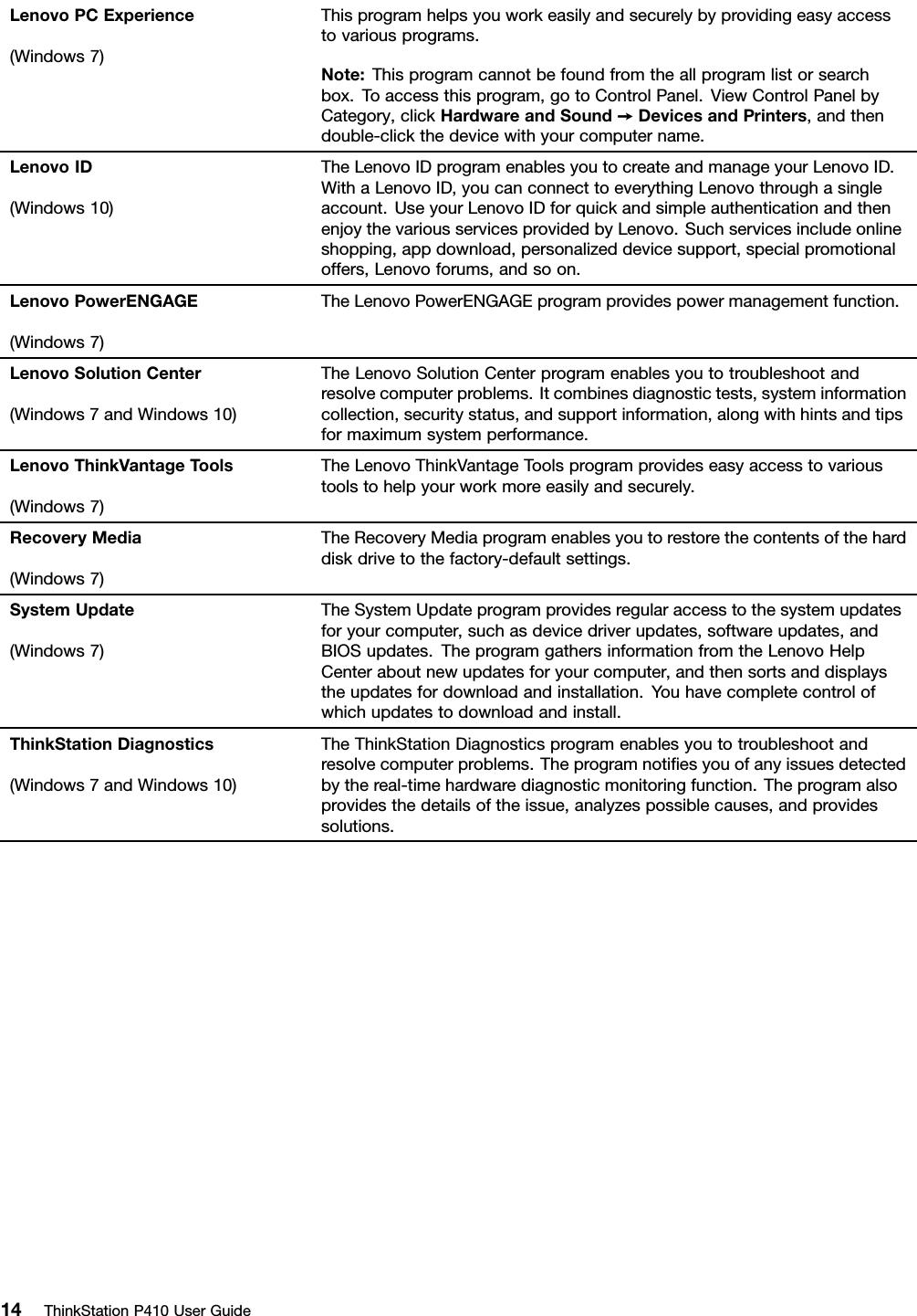 Lenovo P410 Ug En User Manual (English) Guide (Tower Form