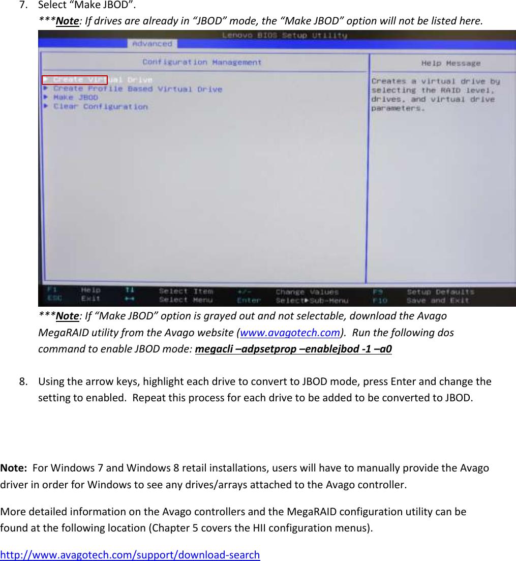 Avago Megaraid Configuration Utility Windows