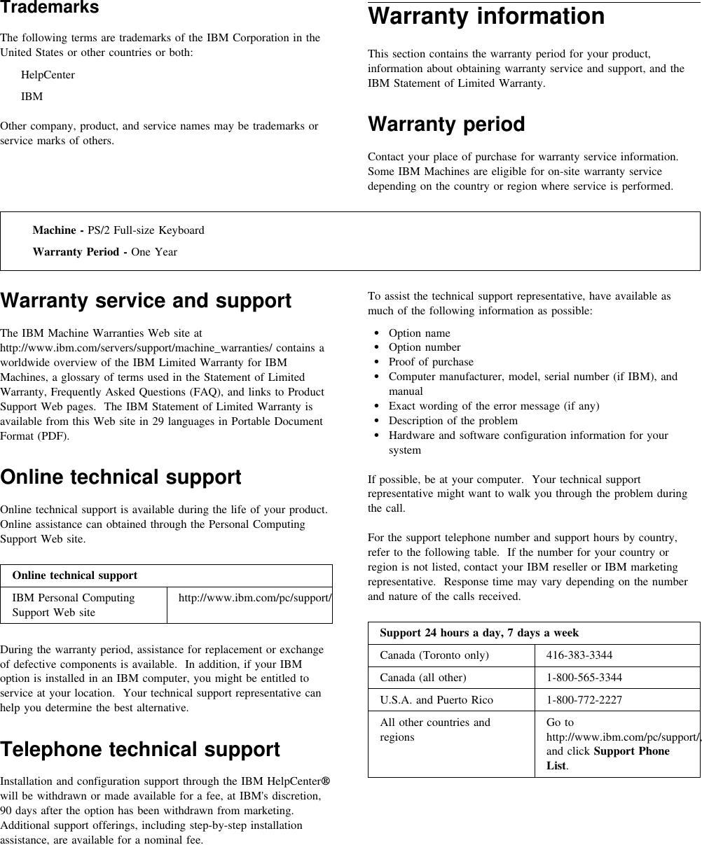 Lenovo Ps2Kybd User Manual M90p Desktop (Think Centre) Type 3421