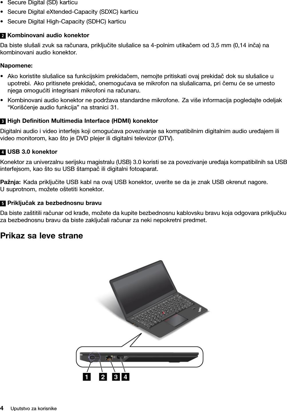 Lenovo S440 Ug La Rs User Manual (Serbian) Guide Think Pad