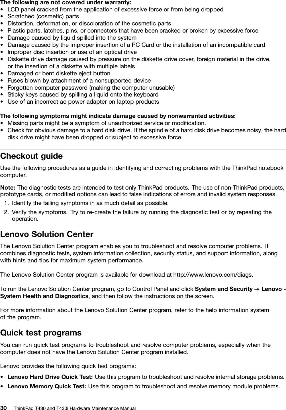 Lenovo T430 T430I Hmm En 0B48304 04 User Manual Hardware Maintenance