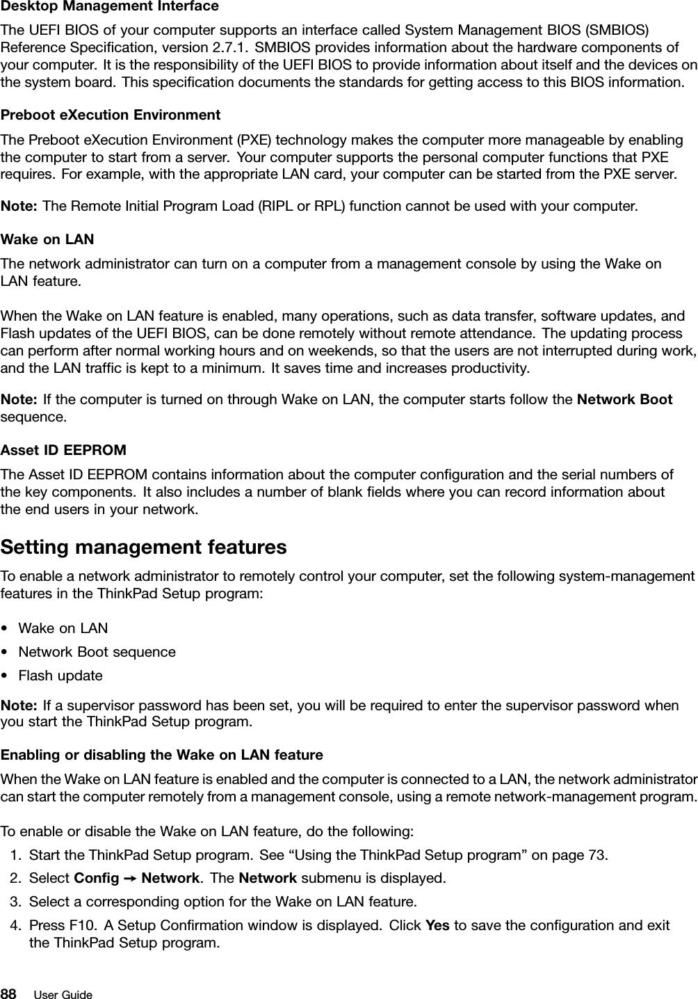 Lenovo T450 Ug En (English) User Guide ThinkPad Laptop (ThinkPad