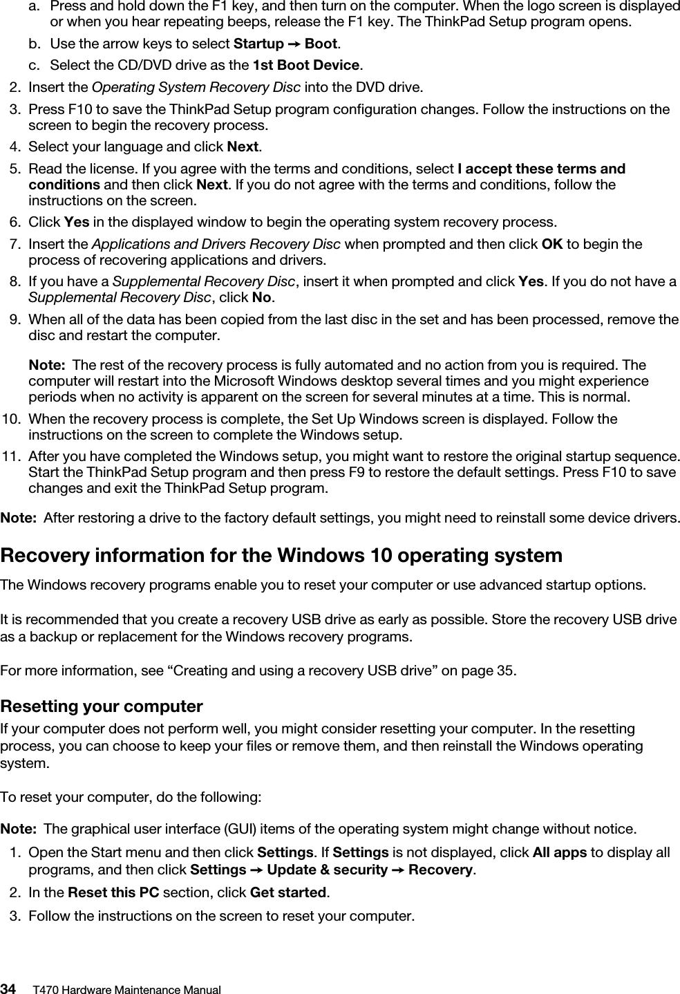 Lenovo T470 Hmm En Sp40M11890 03 Hardware Maintenance Manual User