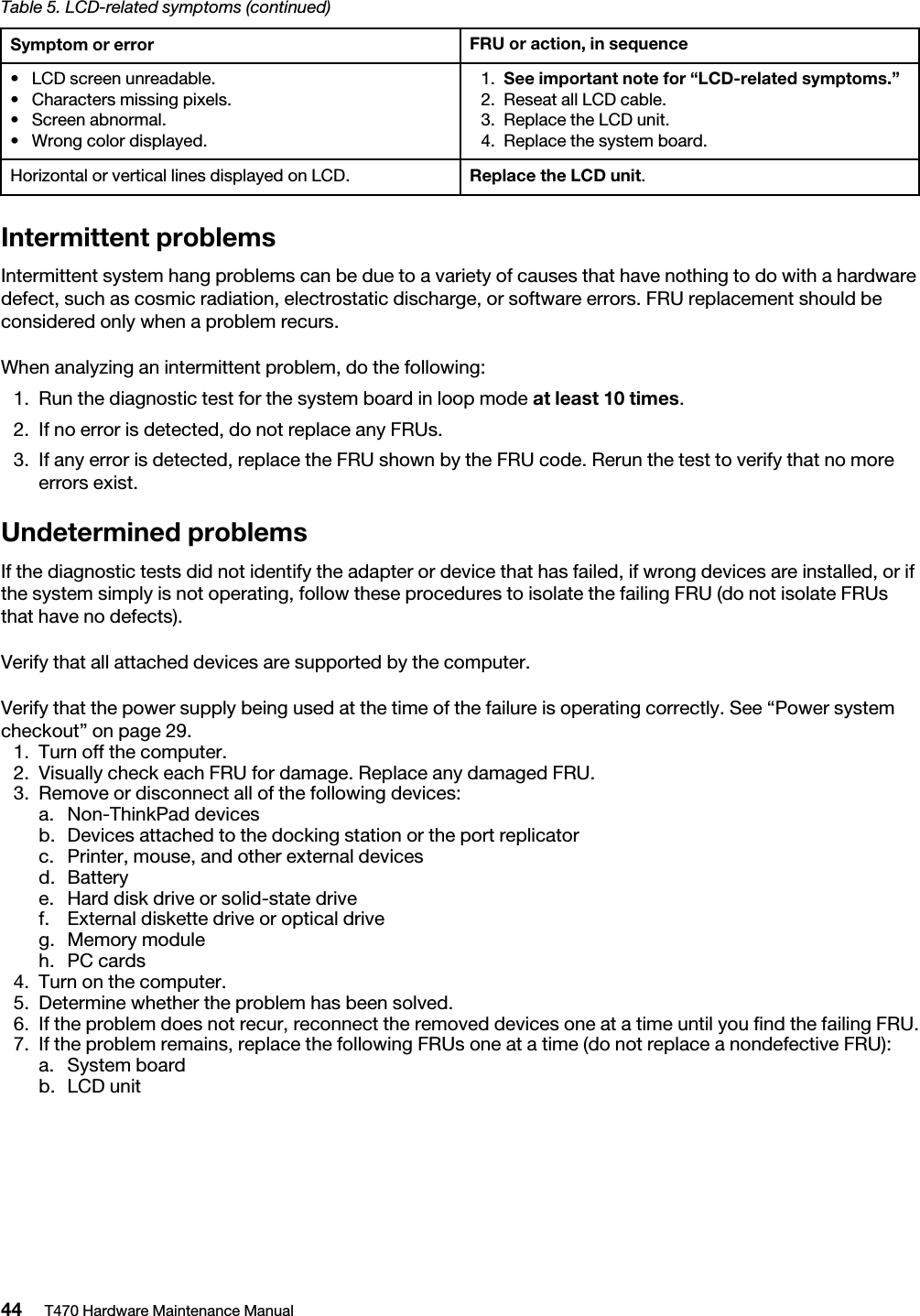 Lenovo T470 Hmm En Sp40M11890 03 Hardware Maintenance Manual