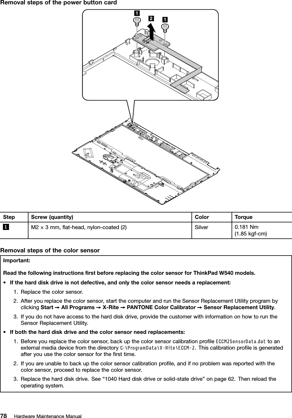 Lenovo T540P W540 W541 Hmm En Sp40A26003 03 User Manual
