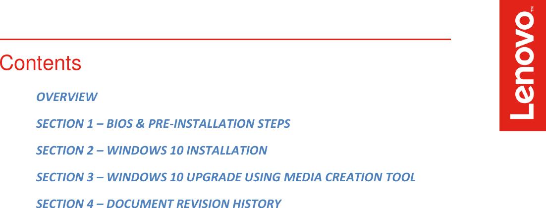 Lenovo Thinkstation P520C P520 P720 P920 Win10 Installation V1 0
