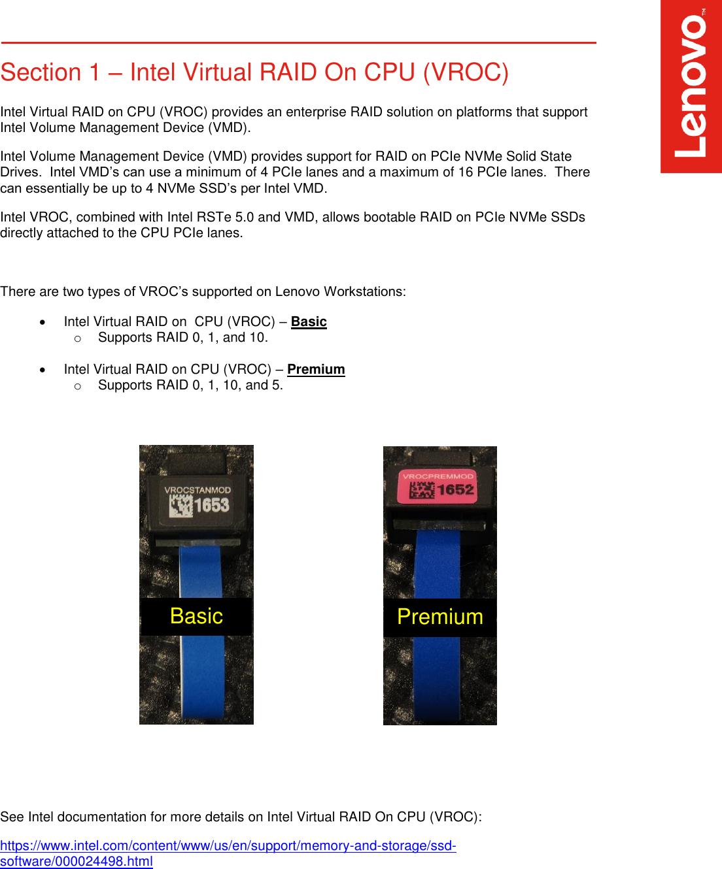 Lenovo Thinkstation P920 P720 Vroc Setup V1 1 User Manual