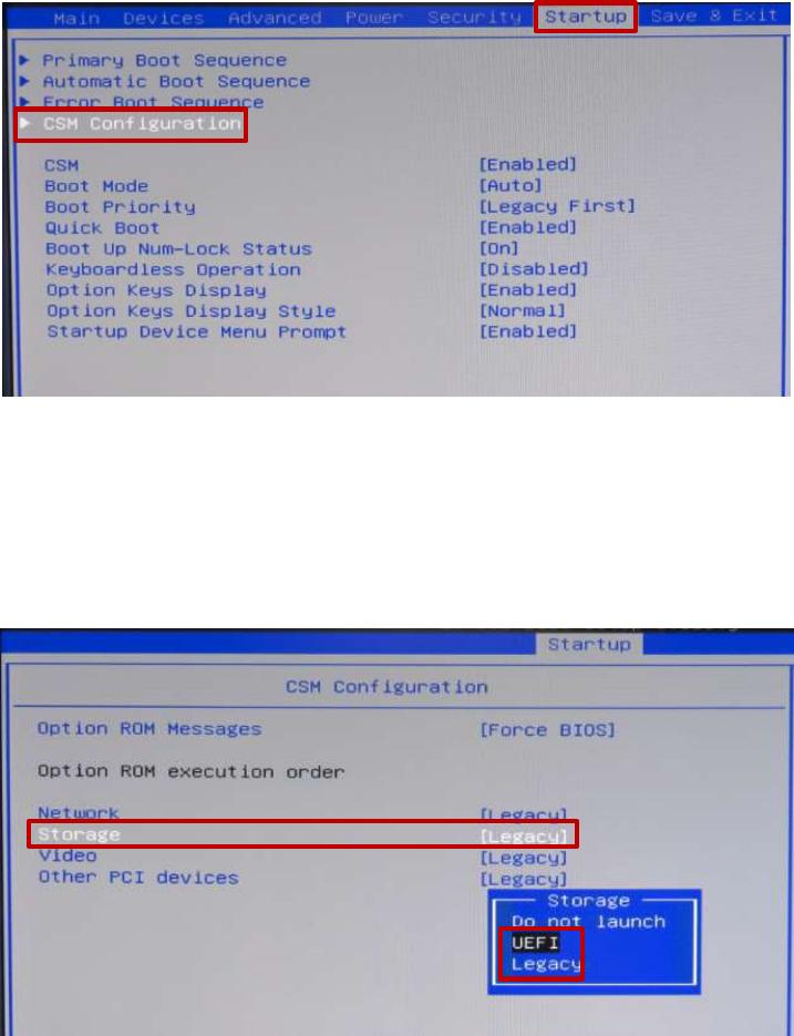 No Csm Option In Bios Lenovo