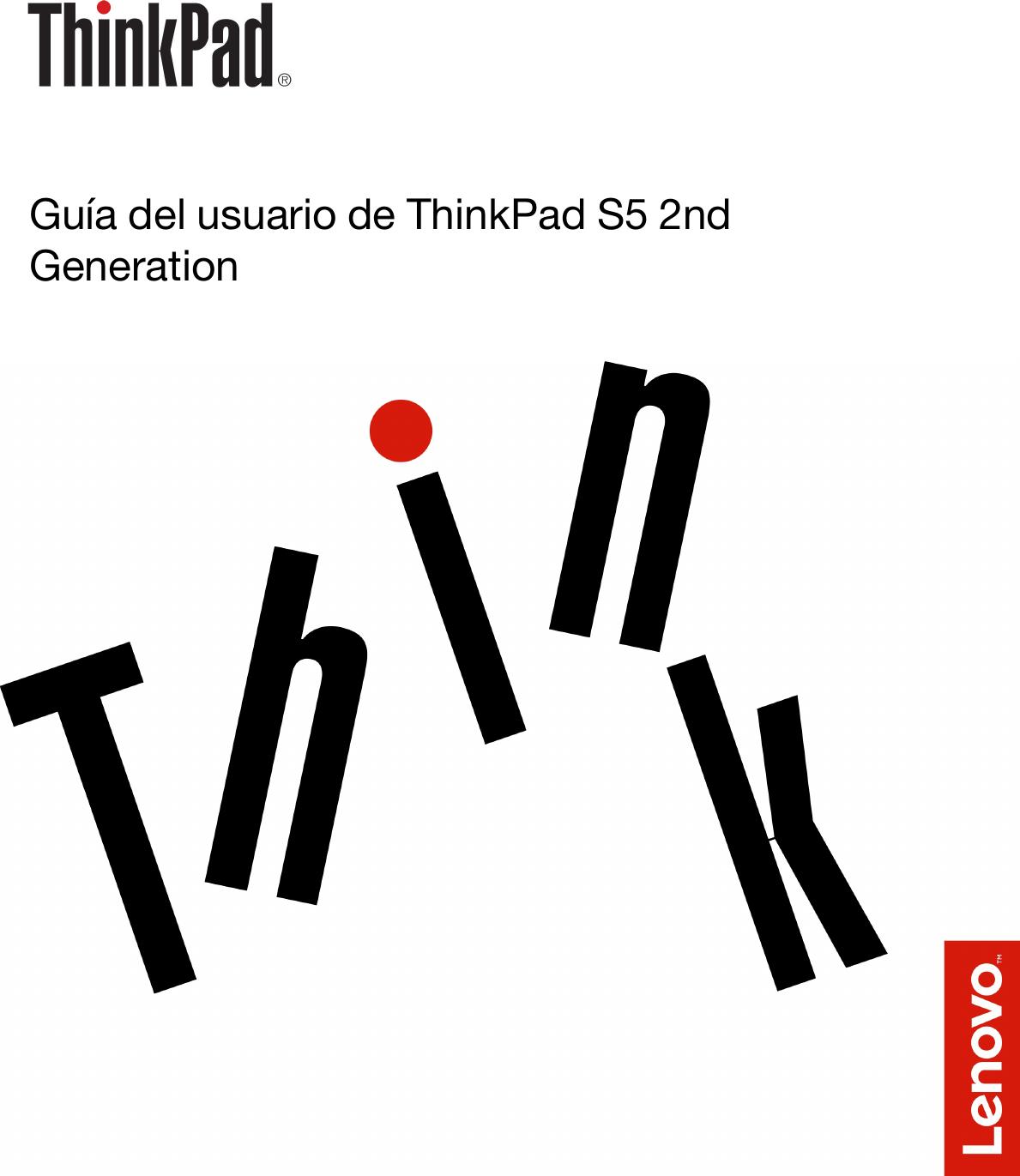 Lenovo Tp S5 2Nd Gen Ug Es Guía Del Usuario De ThinkPad Generation ...