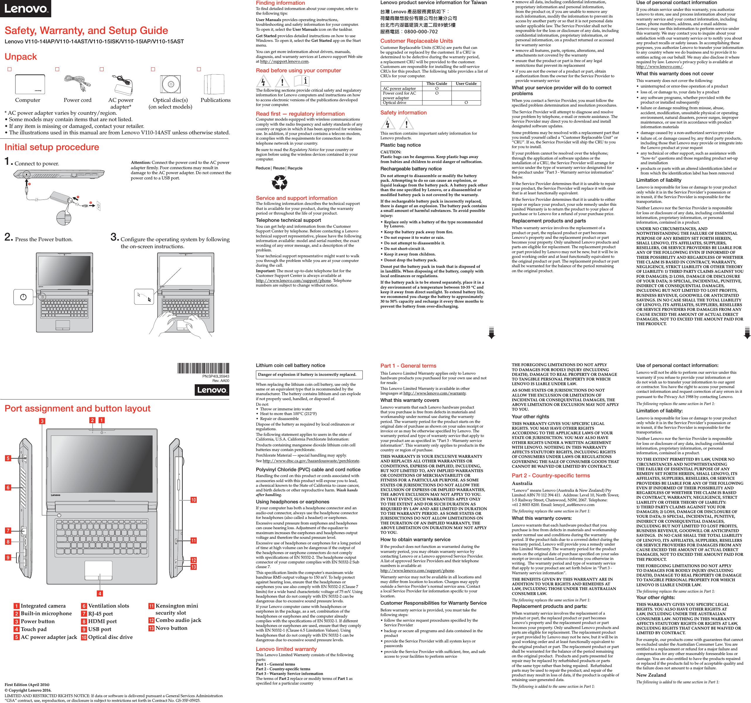 Thinkpad Audio Jack Wiring Diagram Explained Diagrams Laptop Power For Lenovo V110 14 15iap 15ast 15isk Swsg En User Manual English Mic Headphone