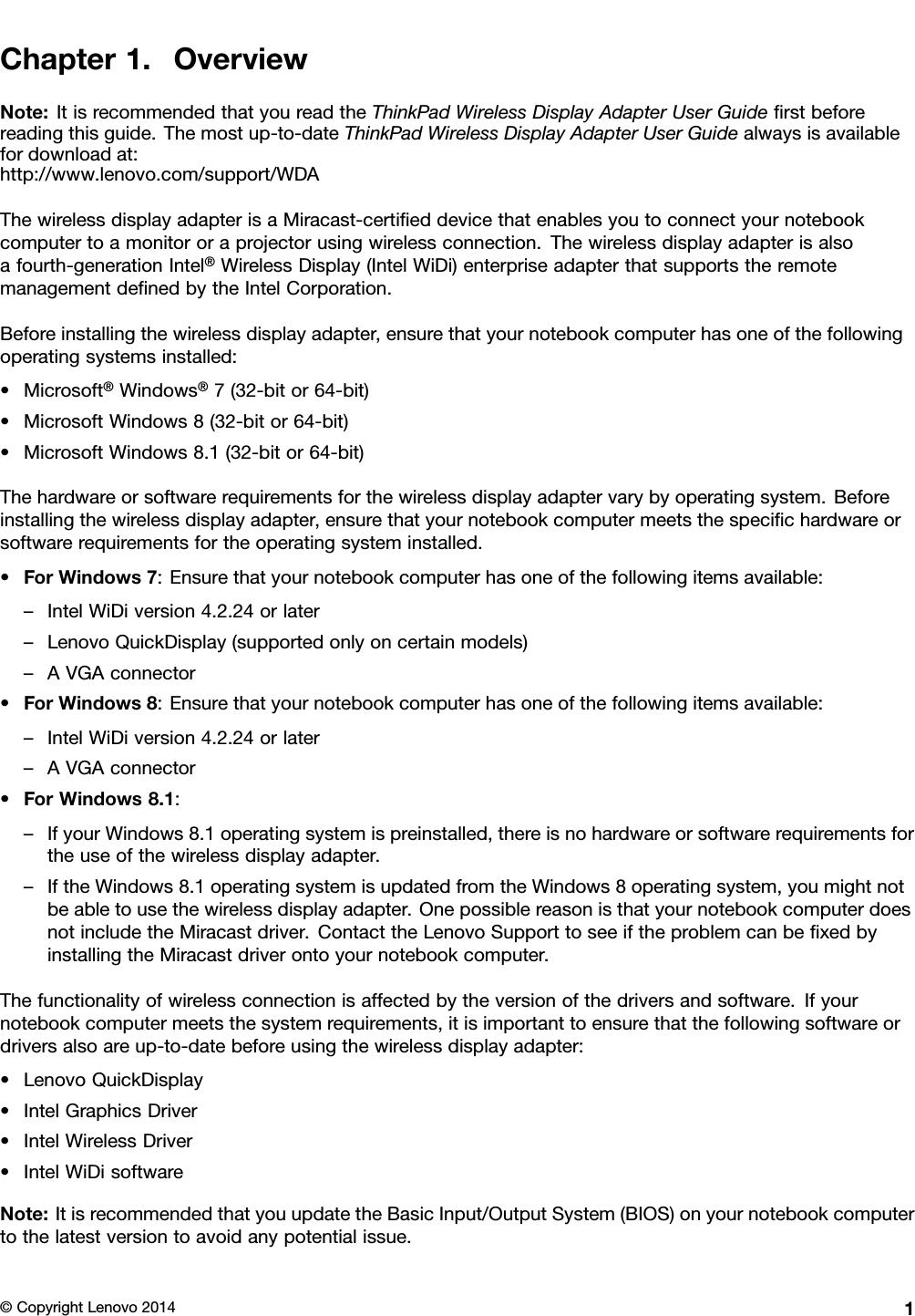 Lenovo Wda Dg En User Manual T440 Laptop (Think Pad)
