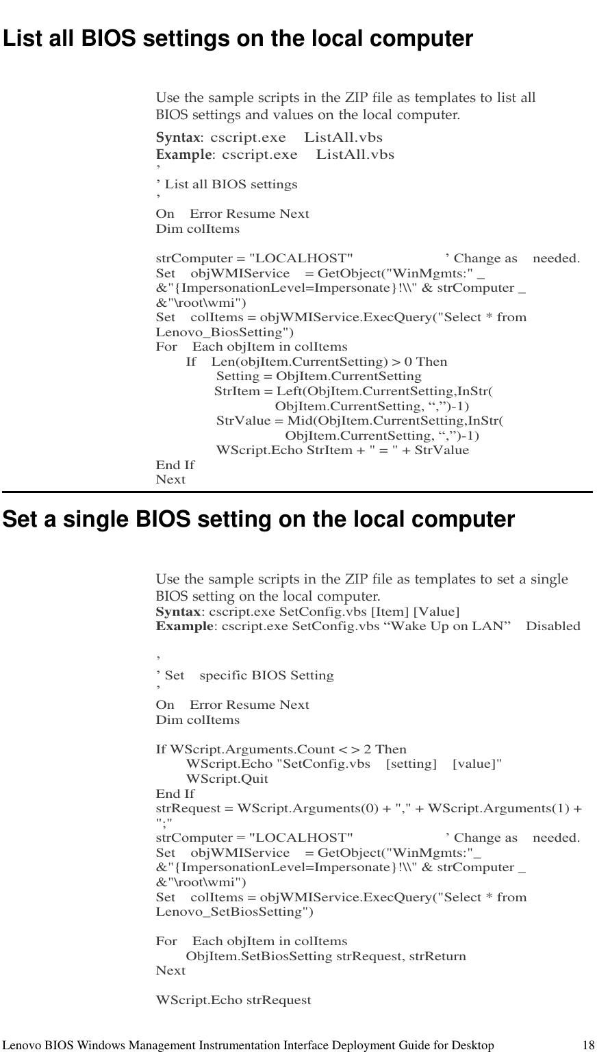 Lenovo Wmi Dtdeploymentguide M91 User Manual BIOS Windows Management