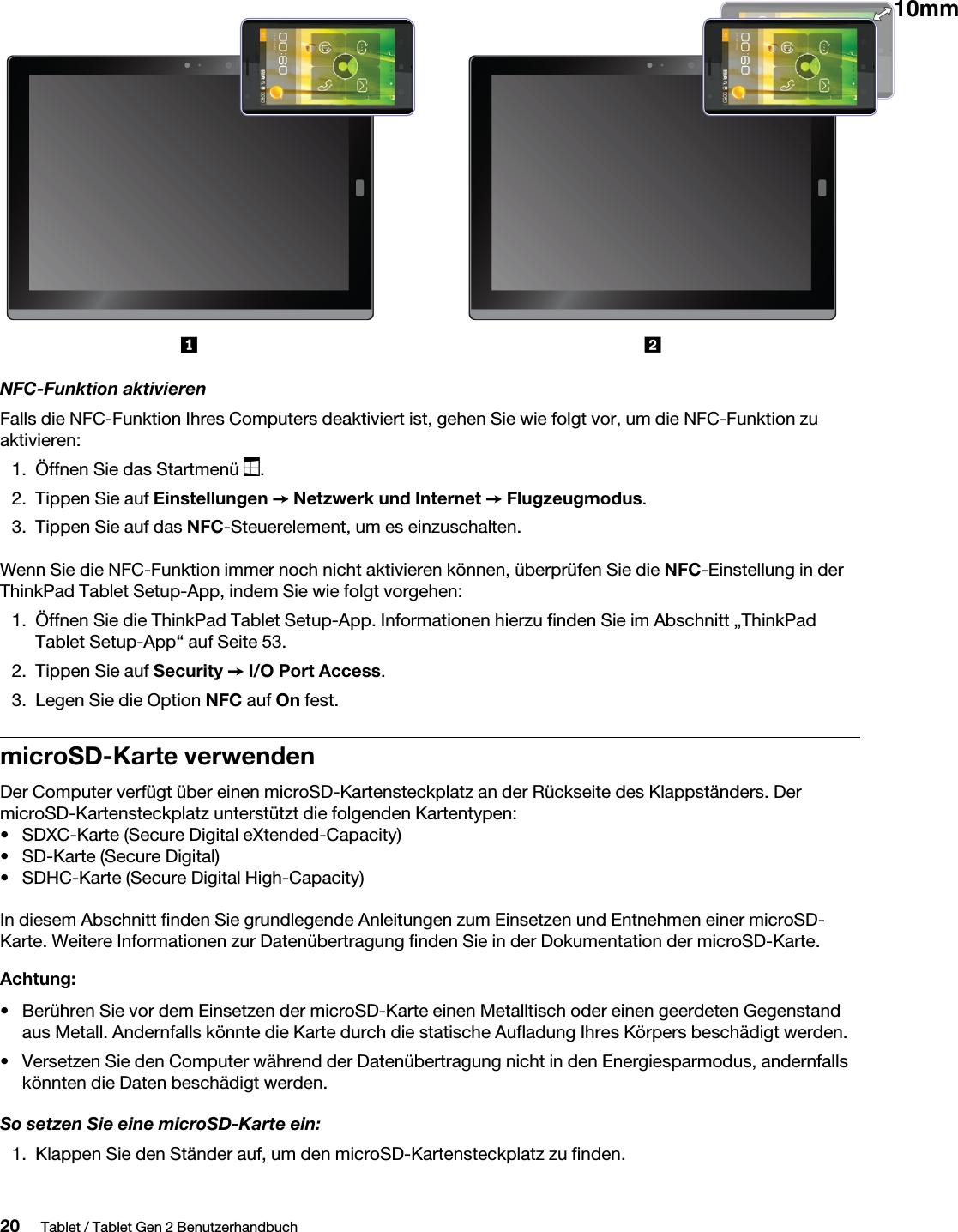 Sdxc Kartensteckplatz.Lenovo X1 Tablet Gen 2 Ug De Benutzerhandbuch User Manual