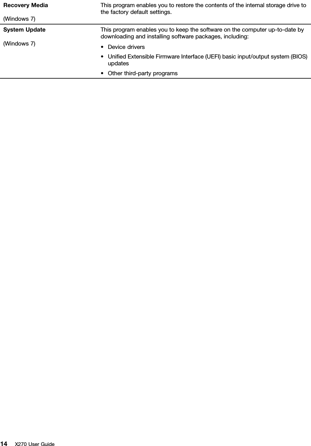 Lenovo X270 Ug En User Manual (English) Guide Think Pad (Type 20HN