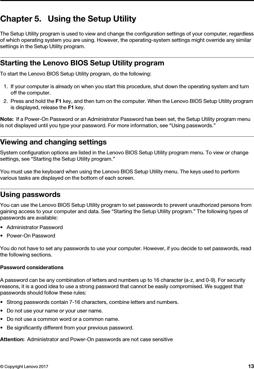 Lenovo Bios Guide