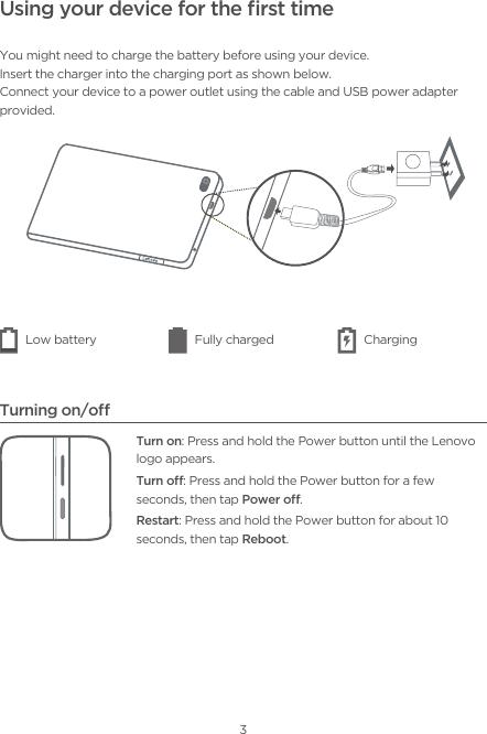 Lenovo (English) Safety, Warranty & Quick Start Guide TAB E7 (TB