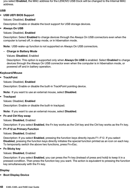 Lenovo E480, E485, And R480 User Guide (English) Think Pad