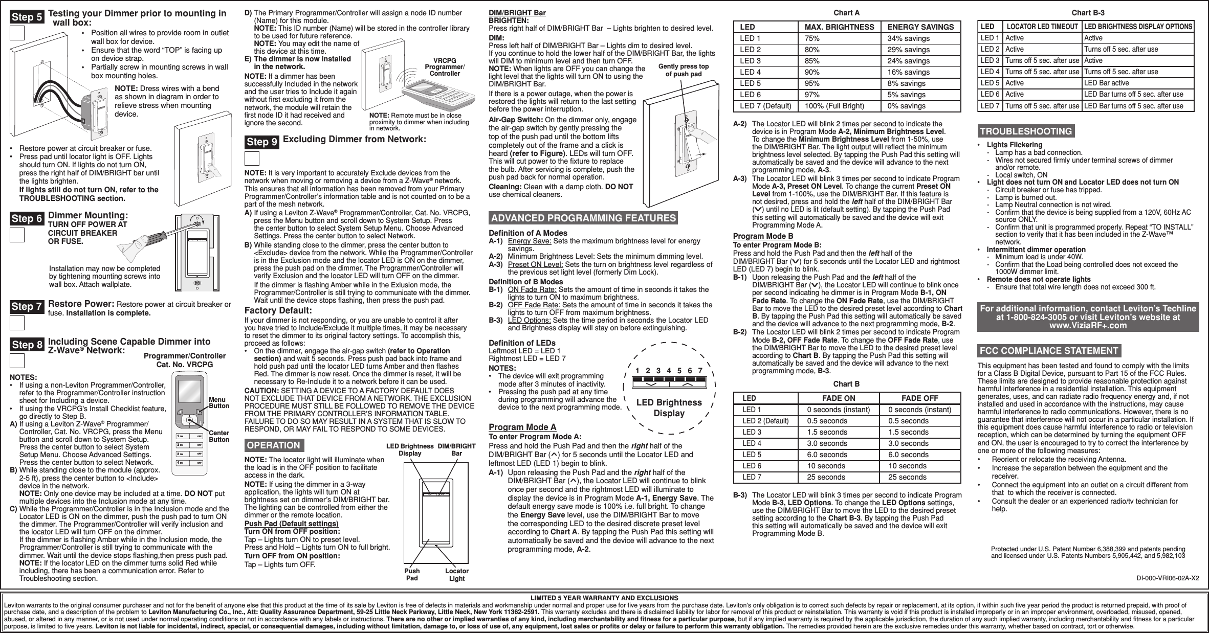 Leviton VRSDC Dimmers User Manual 3 of 7