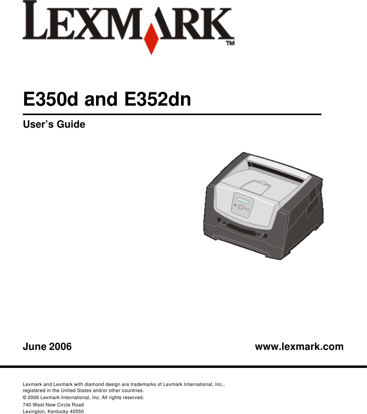 Lexmark E 350D Users Manual W