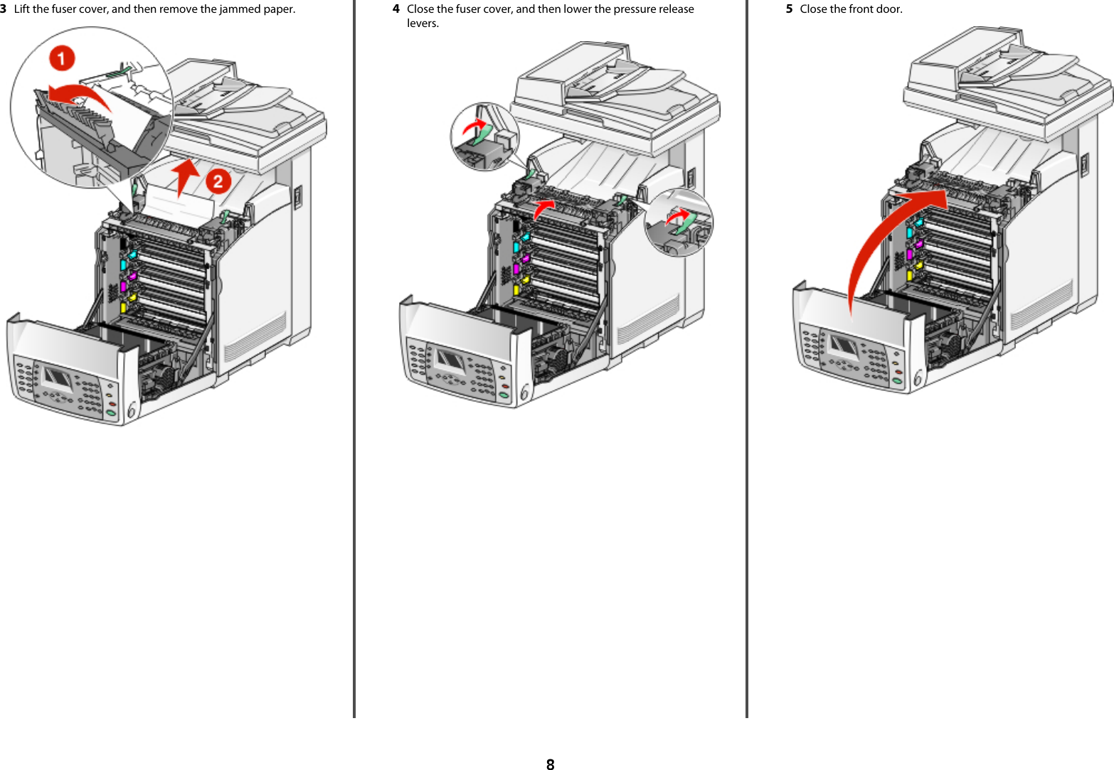 Lexmark All In One Printer X560 Users Manual Clearing Jams Guide