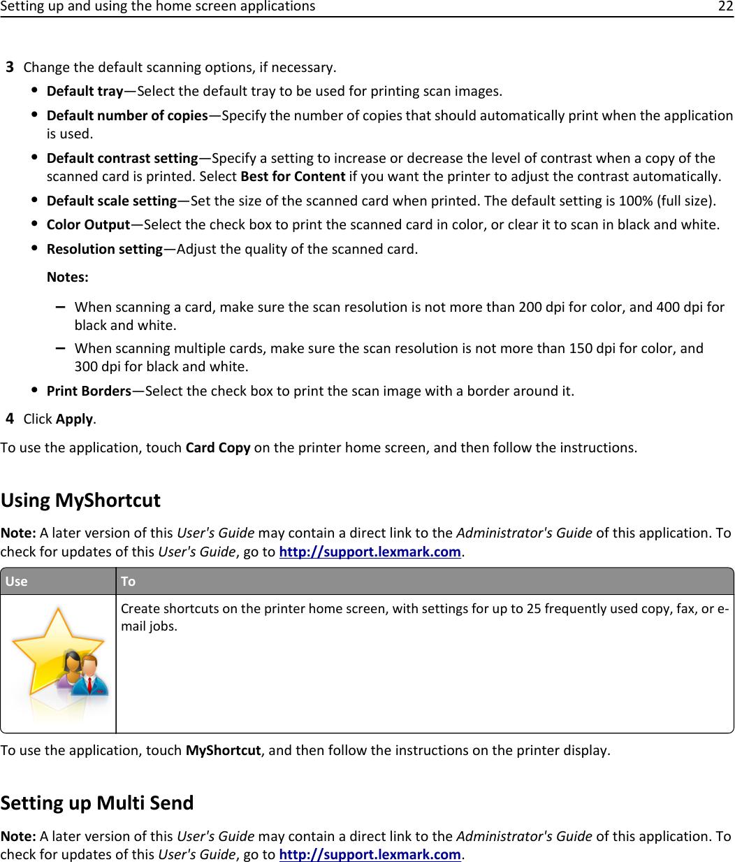 Lexmark Printer Cx410 Users Manual User's Guide
