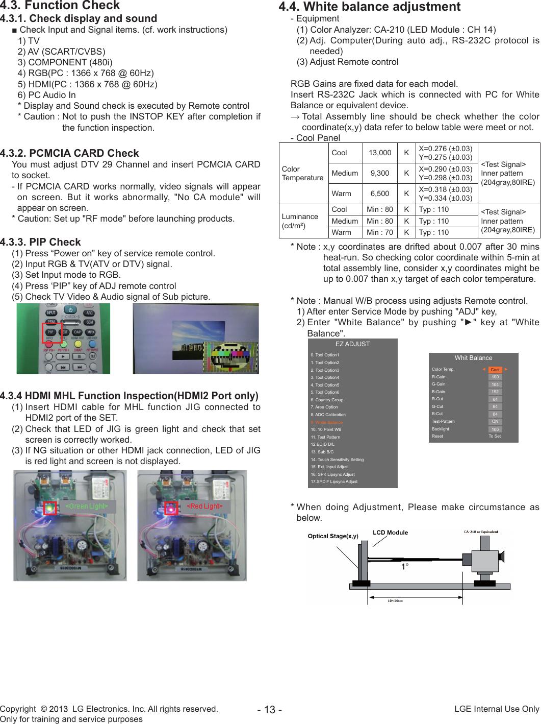 Lg 29Ln45 Z Users Manual